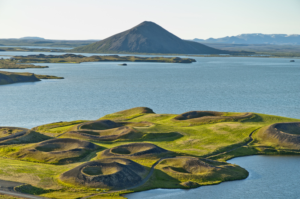 Skútustaðir Pseudocraters with Vindbelgjarfjall in background